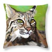 Bobcat Katta Throw Pillow