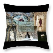 Boboli La Grotta Grande 2 Throw Pillow by Ellen Henneke