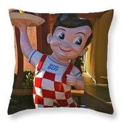 Bob's Big Boy Welcomes You Throw Pillow