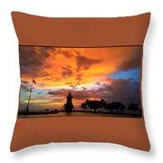 Boca Chita Sunset Throw Pillow
