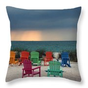 Boca Grande Throw Pillow by Kathy DesJardins
