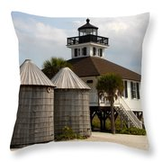Boca Grande Lighthouse Throw Pillow