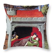 Boccaccio: Lovers, C1430 Throw Pillow
