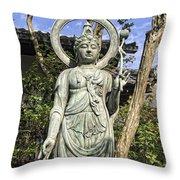 Boddhisattva Buddhist Deity - Kyoto Japan Throw Pillow