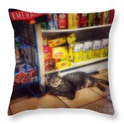 Bodega Cat - At Home In New York Throw Pillow