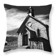 Bodie Church 1977 Throw Pillow