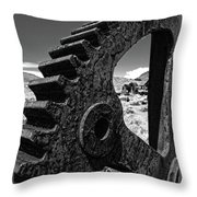 Bodie Ghost Town Gear Throw Pillow