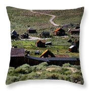 Bodie Ghost Town Panorama Throw Pillow