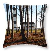 Bodie Island Light Through The Pines Throw Pillow