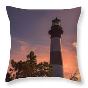 Bodie Island Lighthouse 1 Throw Pillow