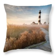 Bodie Island Lighthouse Cape Hatteras National Seashore North Carolina Throw Pillow