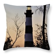 Bodie Island Trees Throw Pillow