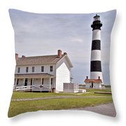 Bodie Lighthouse Nags Head Nc Throw Pillow