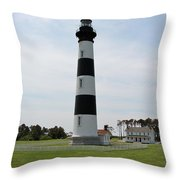 Bodie Lighthouse Nags Head Nc V Throw Pillow