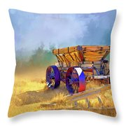 Bodie Ore Wagon Painted Throw Pillow