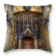 Bodleian Library Door - Oxford Throw Pillow by Yhun Suarez