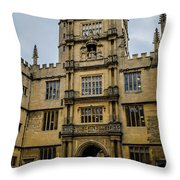 Bodleian Library Main Gate Throw Pillow