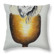 Body, Blood, Soul And Divinity Throw Pillow