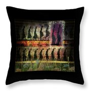 Body In Motion Throw Pillow by Delight Worthyn