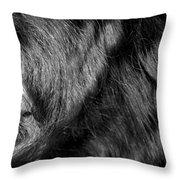 Body Of Hair Throw Pillow