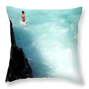 Body Plunge Throw Pillow