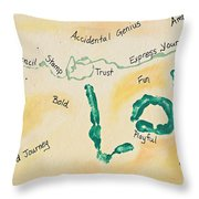 Body Prints Foundation Of Love Throw Pillow