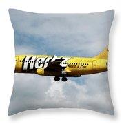 Boeing 737-204 Ryanair Throw Pillow