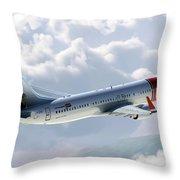 Boeing 737 Norwegian Air Throw Pillow