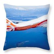 Boeing 747-8 Throw Pillow