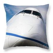Boeing 747 Jumbo 1 Throw Pillow