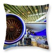 Boeing 787 Exterior Throw Pillow