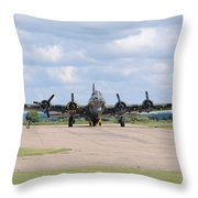 Boeing B-17 Flying Fortress Sally B Throw Pillow