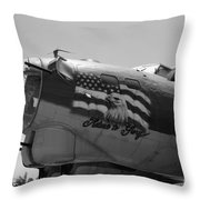 Boeing B-17g Flying Fortress Nose Art Throw Pillow