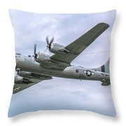 Boeing B-29 Superfortress Fifi In Flight Throw Pillow