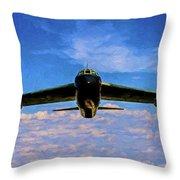 Boeing B-52 Stratofortress Oil Throw Pillow