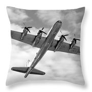 Boeing B29 Superfortress Throw Pillow