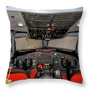 Boeing C-135 Cockpit Throw Pillow