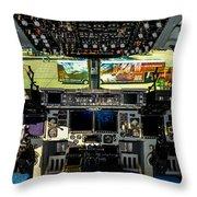 Boeing C-17 Globemaster IIi Cockpit Throw Pillow