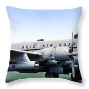 Boeing Kc-97l Stratotanker 22630, Dayton Ohio Throw Pillow