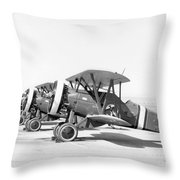 Boeing P-12f4b, 1930s Throw Pillow