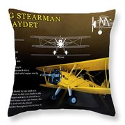 Boeing Stearman N2s Kaydet Throw Pillow