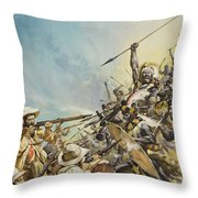 Boers Fighting Natives Throw Pillow