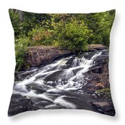 Bog River Cascade Throw Pillow