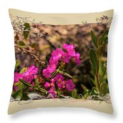 Bog Laurel Flowers Throw Pillow