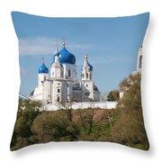 Bogolyubov Monastery Throw Pillow