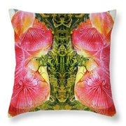 Bogomil Anniversary Flower - Digital Throw Pillow