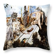 Bogomils Court Throw Pillow