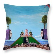 Bogomils Monastic Retreat Throw Pillow