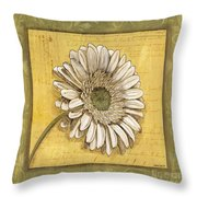 Bohemian Daisy 1 Throw Pillow