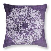 Boho Floral Mandala 2- Art By Linda Woods Throw Pillow